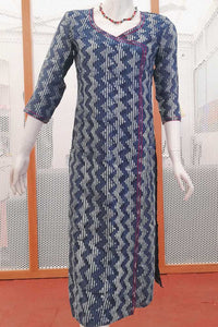 Elegant Chanderi Long Kurta