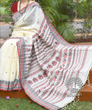 Elegant Bengal Cotton Saree with Dolabedi inspired motifs