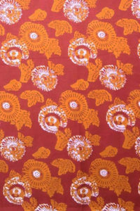 Block Printed Cotton Cut (blouse) Fabric