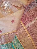 Elegant Woven Kanchi Cotton Saree with intricate palla