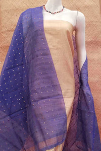 Silk Cotton Dupatta with Woven Sequins