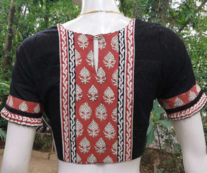 Elegant Jaqaurd cotton blouse - size 38 & 40