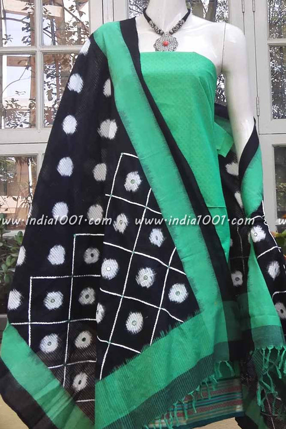 Woven Ikkat Dupatta with embroidery & patti work