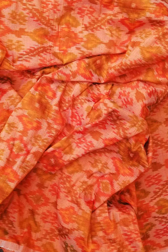 Handwoven Pure Raw Silk Double Ikat Cut (blouse) Fabric