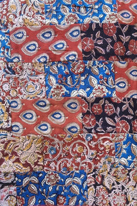 Block Printed Cotton Patchwork Cut (blouse) Fabric