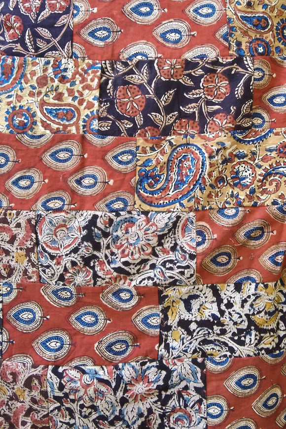 Block Printed Cotton Patchwork Fabric