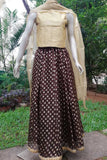 Stunning Kalidaar Kota silk long skirt