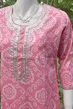 Elegant Cotton Kurta with pitta work embroidery