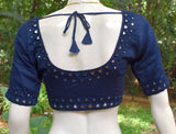 Cotton Blouse with hand done mirror work - Size 36