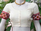 Cotton Blouse with Hand embroidery & Mirror work - size 36