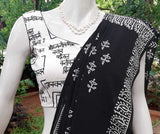 Sleeveless Block Printed Cotton Blouse - size -  36 ,38