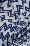 Beautiful Modal Silk Indigo Dyed Hand Block Print Fabric