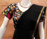 Block Printed  Kalamkari Silk Blouse