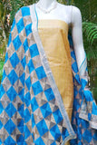 Beautiful Semi Chiffon dupatta with Phulkari work