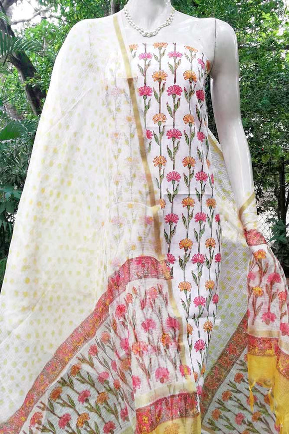 Elegant Cotton  unstitched suit fabric