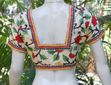 Hand Embroidered Kantha  Blouse Size -40