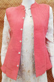 Block Print Quilted Reversible Sleeveless cotton jacket