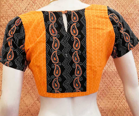 Elegant Patch Work and Embroidery Cotton Blouse
