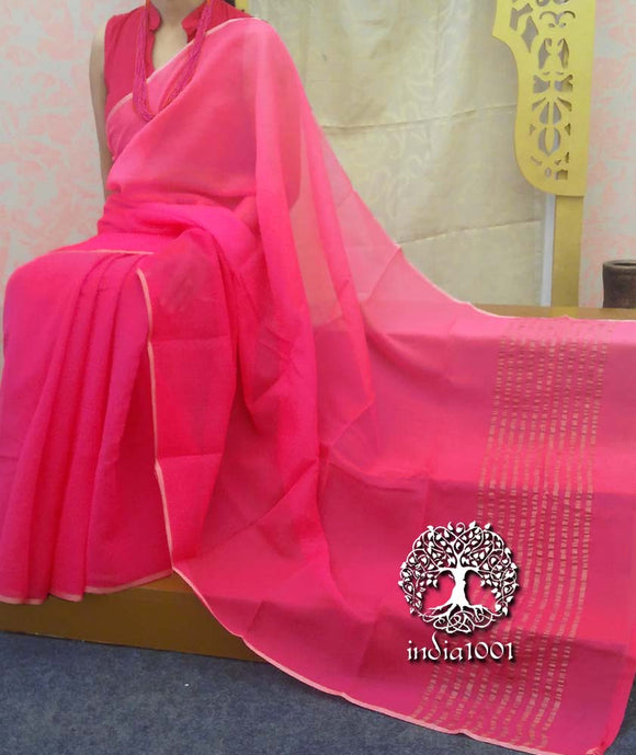 Elegant Chiffon Saree with gradient finish