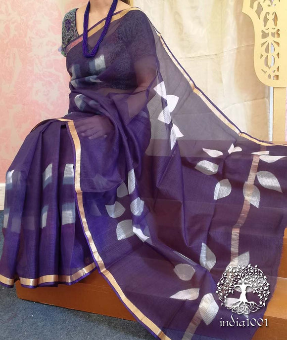 Elegant Kota Silk Saree with Clamp dyeing(without BP)