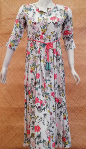 Elegant Rayon Long dress
