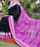 Hand Woven Firbi Cotton Saree from Orissa with Fish bootis