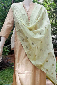Elegant Chanderi Dupatta with Embroidery