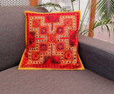 Hand Embroidered Cotton Cushion Cover  ( set of 2)
