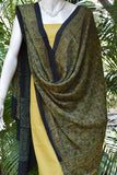 Elegant Hand Block Printed Ajrakh Modal Dupatta with plain kurta fabric