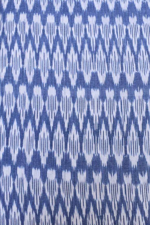 Woven ikkat cotton  fabric ( 2.5 mtrs cut)