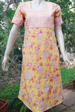Elegant A line Cotton kurta/ dress with yoke and pockets