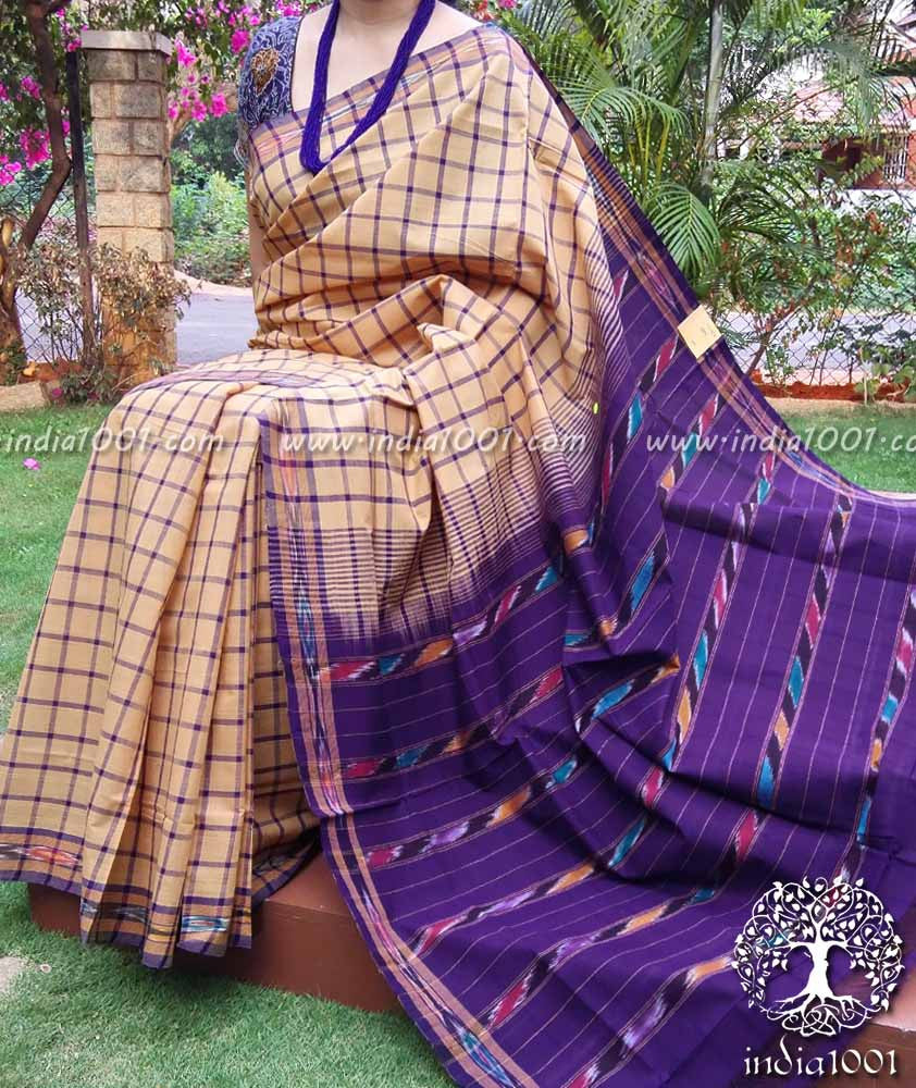 Woven Andhra Cotton Saree(without BP)