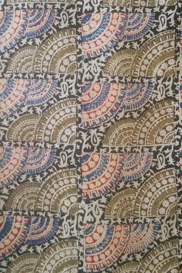 Handloom Cotton fabric with Kalamkari print