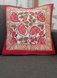Hand Block Printed Cotton Cushion Cover ( available in set of 2 or 3 )