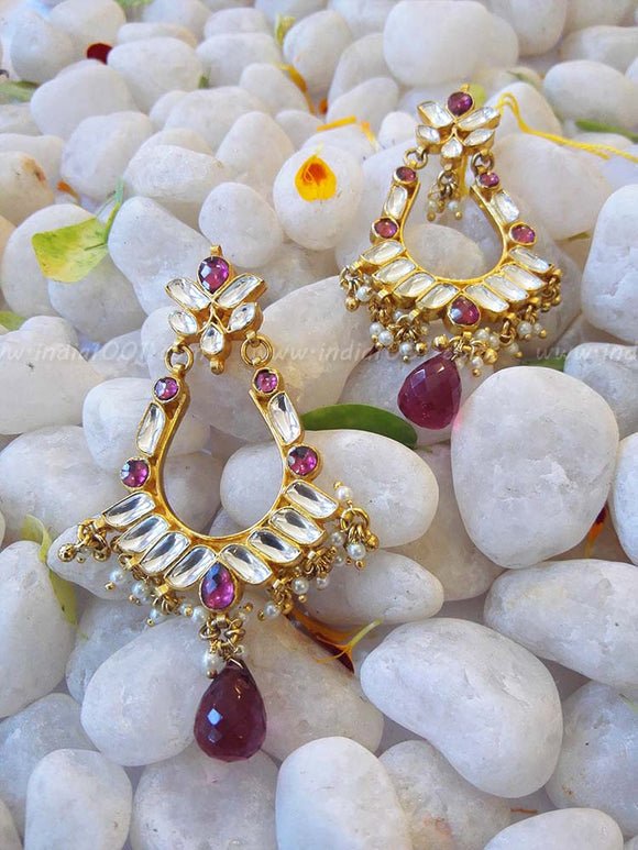 Designer Kundan and Pearl Earring