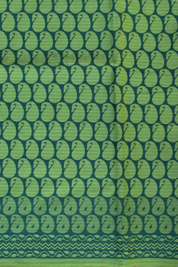 Block Printed Running Jacaurd Cotton Fabric