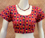 Hand Embroidered phulkari work cotton Blouse - size 42