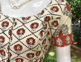 Block Printed cotton Blouse - Size 36, 38 , 40, 42