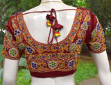 Beautiful Mashru Silk Fabric Blouse with Kutch Ahir Work - size 38