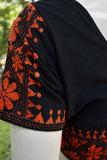 Cotton Blouse with Hand embroidery  - size 40