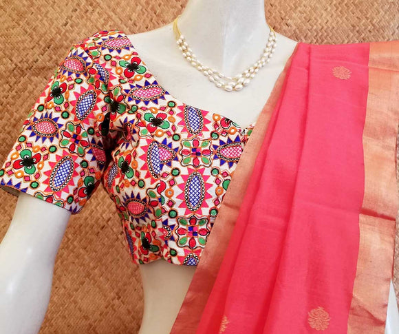 Beautiful Art Silk Embroidered Blouse ,  Size - ( 38)