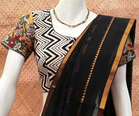 Bagru &  Kalamkari Cotton Blouse