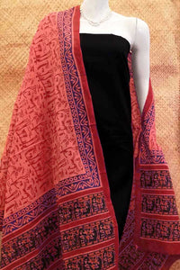 Light Cotton Dupatta With Hand Block Print