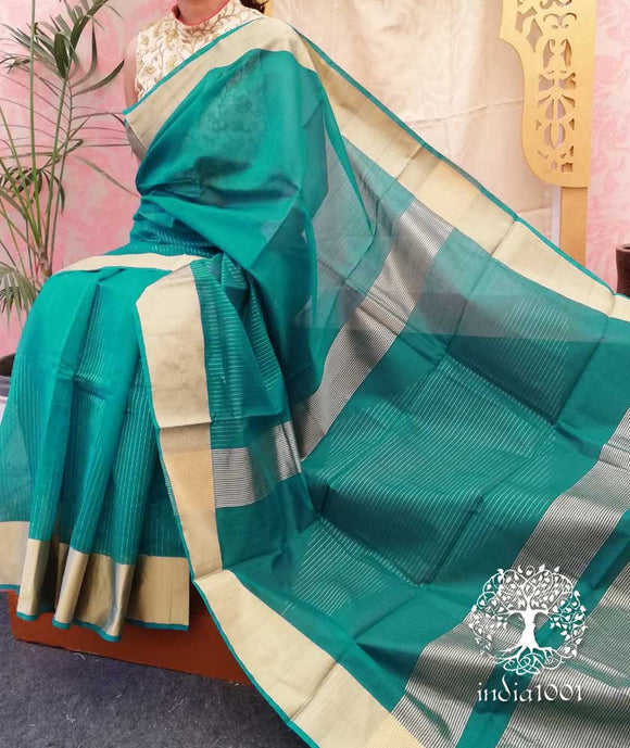 Elegant Handwoven Chinnalpatti Silk & cotton saree