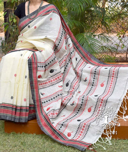 Elegant Bengal Khadi Cotton Saree