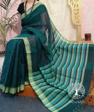 Elegant Mangalgiri Handloom Cotton Saree with Missing weave