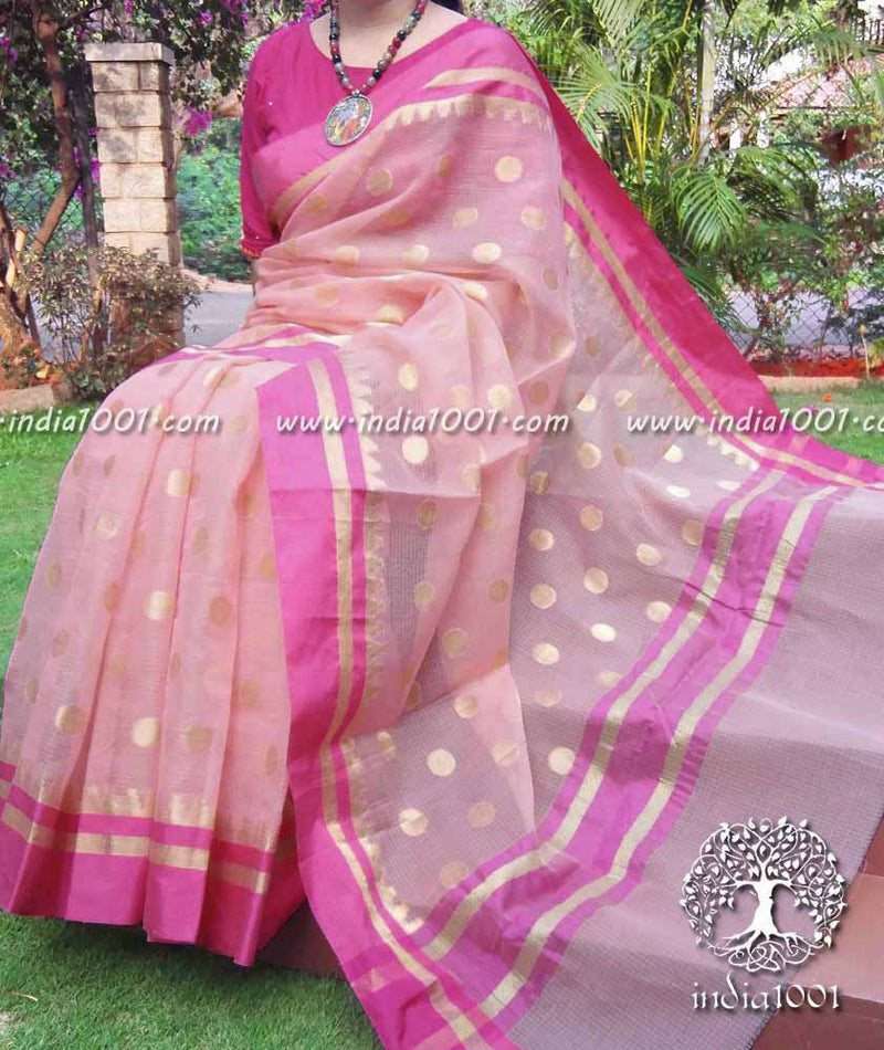 Elegant Kota Cotton Saree with Woven bootis ( without BP)