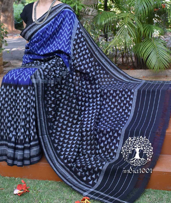 Elegant Handloom Orissa Ikkat Cotton Saree ( without BP)