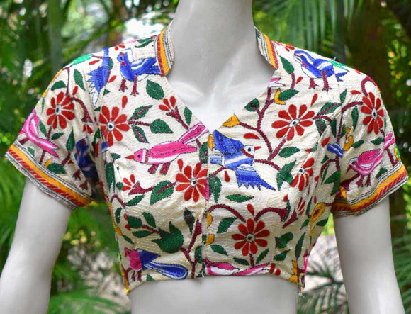 Hand Embroidered Nakkshi Kantha  Blouse Size - 38 , 42