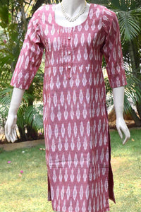 Ikkat Cotton  Kurta